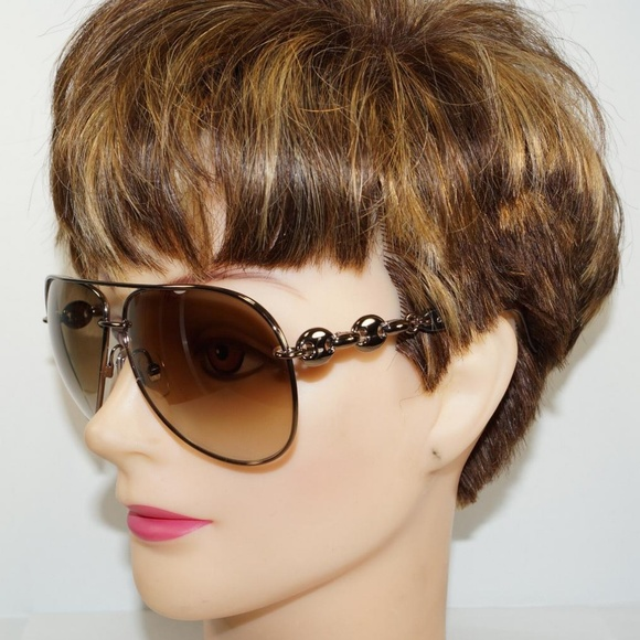 4d5ca781215d Gucci Accessories | Aviator Marina Chain Brown Sunglasses | Poshmark